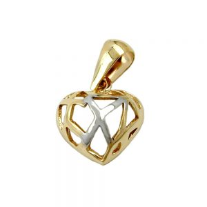 Pendentif coeur avec des trous en or 9 carats 431231xx