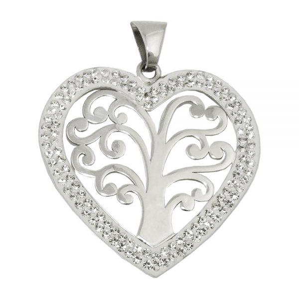 Pendentif coeur avec trois argent 925 Krossin bijoux en argent 93677xx