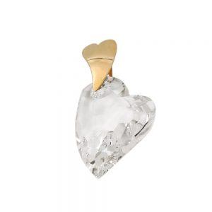 Pendentif coeur de zircon 9k or 431141xx