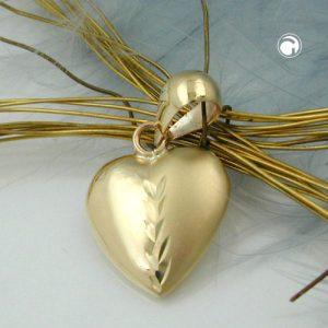 Pendentif coeur en or 9 carats Krossin bijoux or 431251x