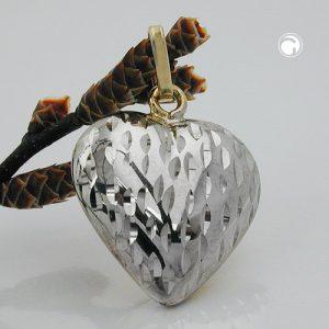 Pendentif coeur en or 9 carats Krossin bijoux or 431293x