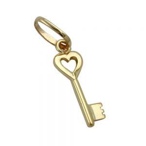 Pendentif coeur et cle en or 9 carats 430984xx
