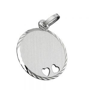Pendentif coeur gravable argent 925 Krossin bijoux en argent 90414xx
