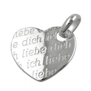 Pendentif coeur ich liebe dich argent 925 Krossin bijoux en argent 92147xx