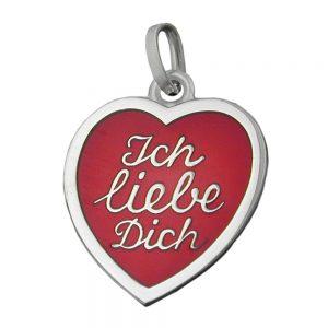 Pendentif coeur ich liebe dich argent 925 Krossin bijoux en argent 92193xx