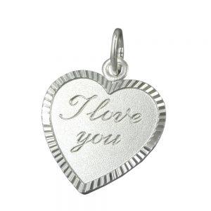 Pendentif coeur je taime argent 925 Krossin bijoux en argent 90184xx