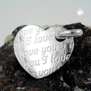 Pendentif coeur je taime argent 925 Krossin bijoux en argent 92441x
