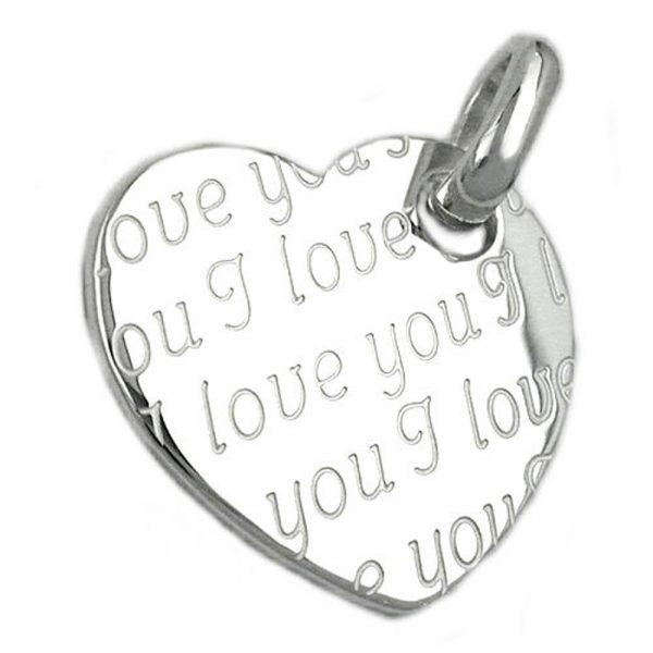 Pendentif coeur je taime argent 925 Krossin bijoux en argent 92441xx