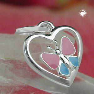 Pendentif coeur papillon argent 925 Krossin bijoux en argent 93111x