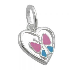 Pendentif coeur papillon argent 925 Krossin bijoux en argent 93111xx