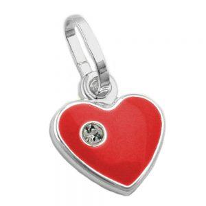 Pendentif coeur rouge argent 925 Krossin bijoux en argent 90311xx