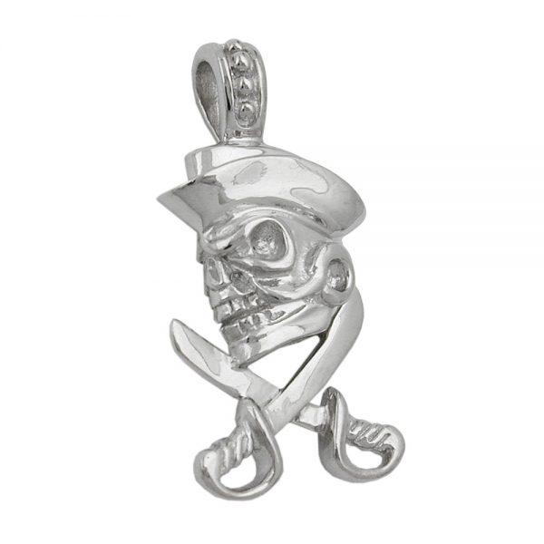 Pendentif crane rhodie argent 925 Krossin bijoux en argent 92491xx