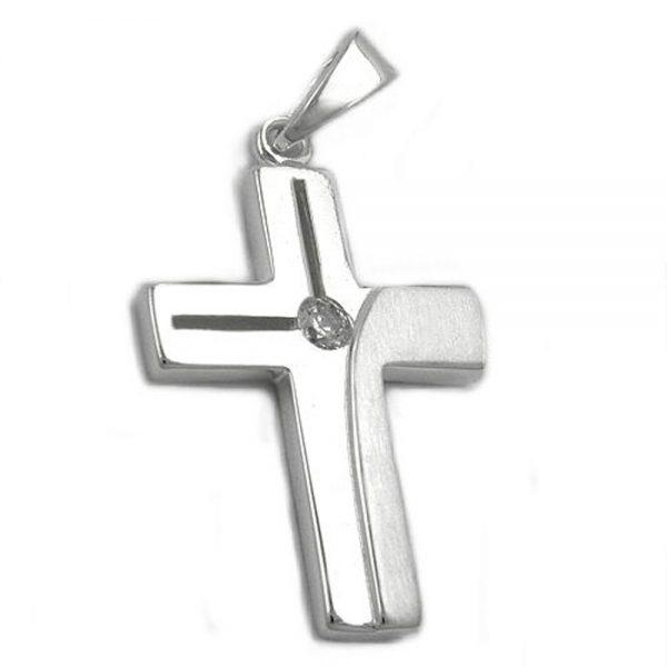 Pendentif croix argent brillant 925 Krossin bijoux en argent 93199xx