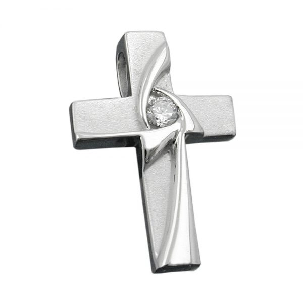 Pendentif croix avec Zircon argent 925 Krossin bijoux en argent 93398xx