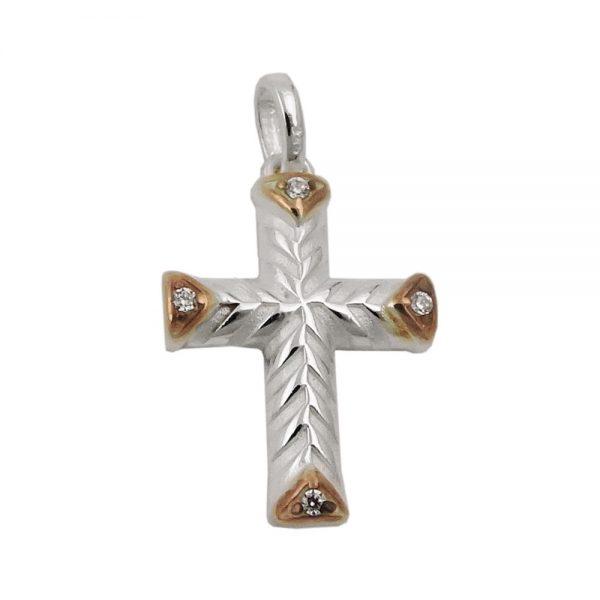 Pendentif croix avec Zircon argent 925 Krossin bijoux en argent 93487xx
