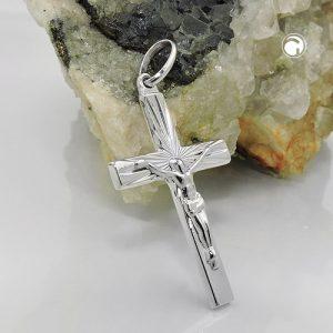Pendentif croix avec jesus argent 925 Krossin bijoux en argent 93652x