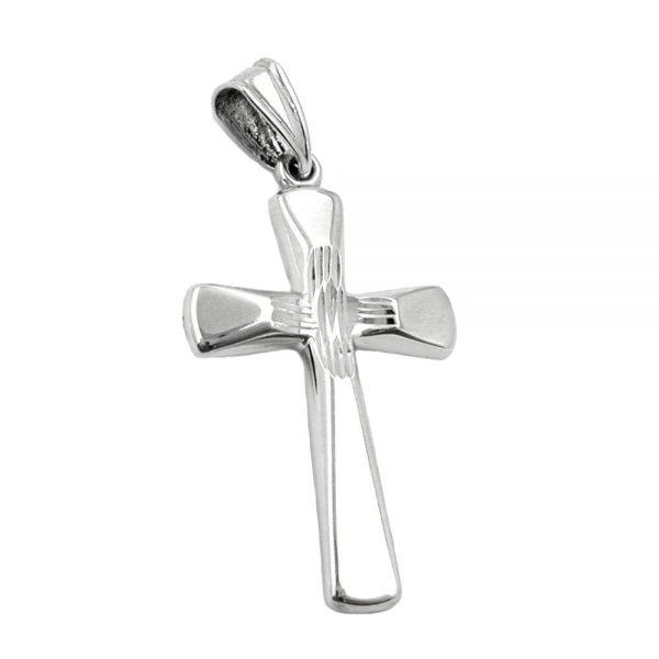 Pendentif croix diamant taille en argent 925 Krossin bijoux en argent 93303xx