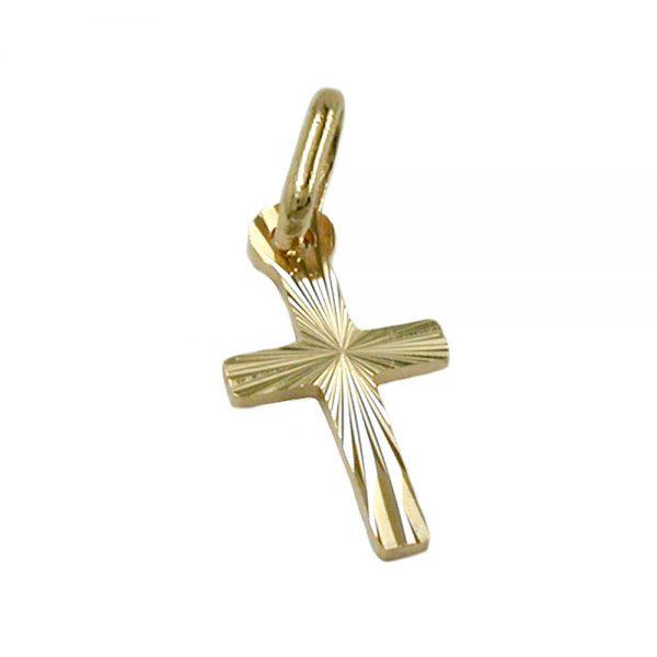 Pendentif croix diamant taille en or 14 carats 430429xx
