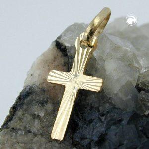 Pendentif croix diamant taille en or 14 carats Krossin bijoux or 430429x