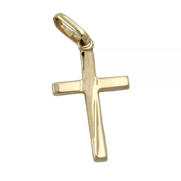 Pendentif croix diamant taille en or 9 carats 431070xx