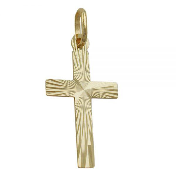 Pendentif croix diamant taille en or 9 carats 431330xx