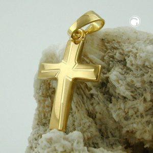 Pendentif croix en or 9k Krossin bijoux or 431164x