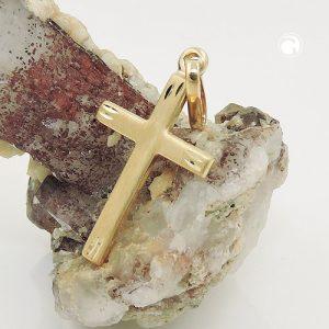 Pendentif croix en or 9k Krossin bijoux or 431437x