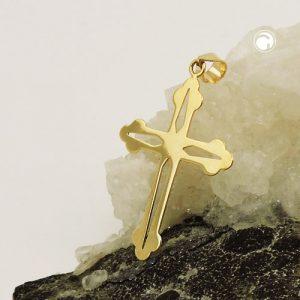 Pendentif croix en or 9k poli Krossin bijoux or 431475x