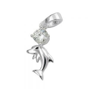Pendentif dauphin Zircon argent 925 Krossin bijoux en argent 91683xx