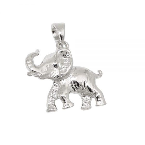 Pendentif elephant en argent poli 925 Krossin bijoux en argent 93595xx