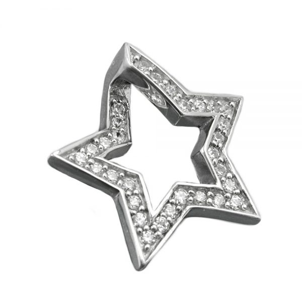 Pendentif etoile avec Zircon argent 925 Krossin bijoux en argent 93355xx