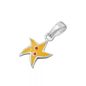 Pendentif etoile jaune argent 925 Krossin bijoux en argent 90459xx