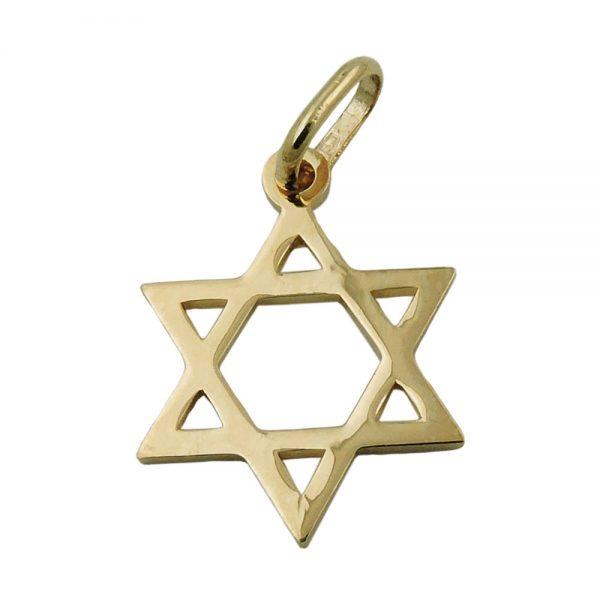 Pendentif etoile juive 9 carats 431334xx