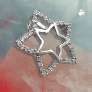 Pendentif etoile zircons argent 925 Krossin bijoux en argent 94007x