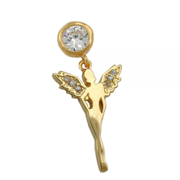 Pendentif fee 3 microns plaque or 30233xx