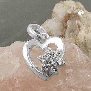 Pendentif fleur Zircon argent 925 Krossin bijoux en argent 93715x