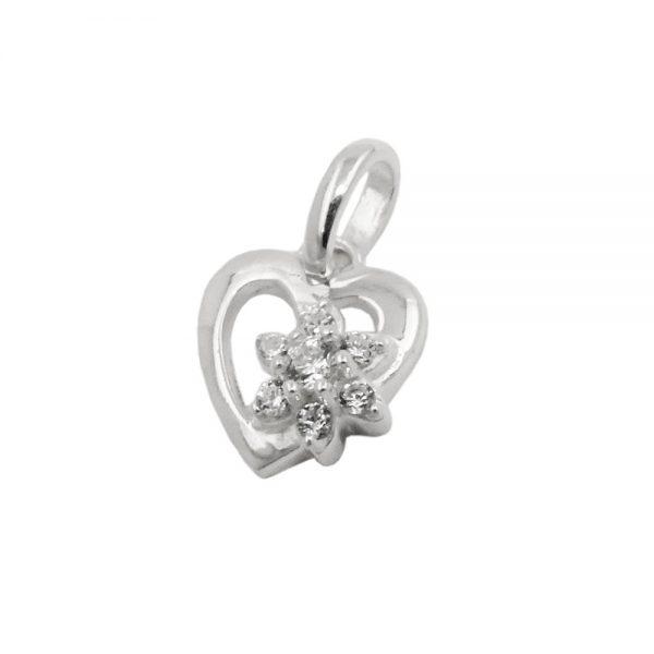 Pendentif fleur Zircon argent 925 Krossin bijoux en argent 93715xx