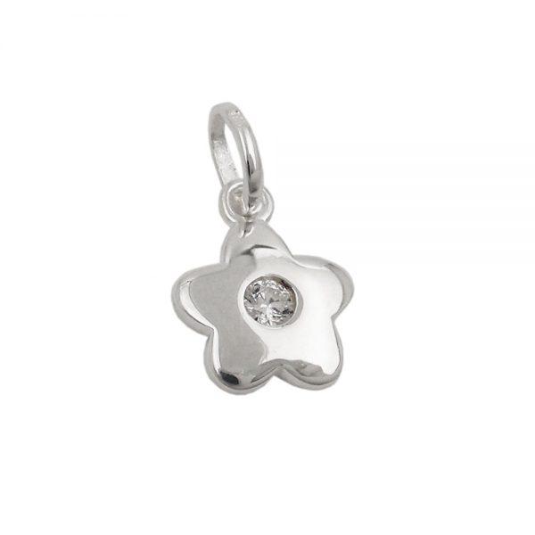Pendentif fleur Zircon blanc argent 925 Krossin bijoux en argent 93635xx
