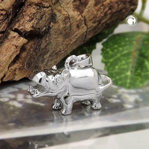 Pendentif hippopotame argent 925 Krossin bijoux en argent 93597x