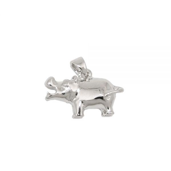 Pendentif hippopotame argent 925 Krossin bijoux en argent 93597xx