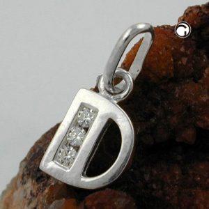 Pendentif initial d avec argent 925 Krossin bijoux en argent 91444dx