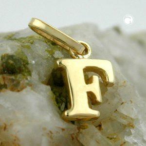 Pendentif initial f 9k or Krossin bijoux or 430855x