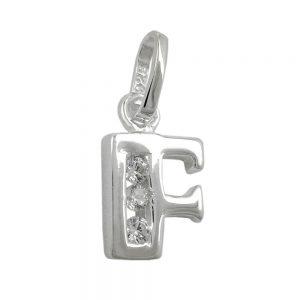 Pendentif initial f avec argent 925 Krossin bijoux en argent 91444fxx