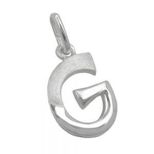 Pendentif initial g argent 925 Krossin bijoux en argent 91440gxx