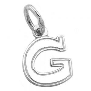 Pendentif initial g argent 925 Krossin bijoux en argent 91770gxx