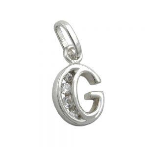 Pendentif initial g avec argent 925 Krossin bijoux en argent 91444gxx