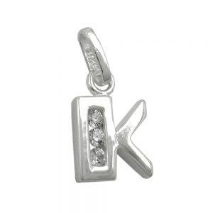 Pendentif initial k avec argent 925 Krossin bijoux en argent 91444kxx