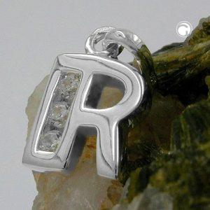 Pendentif initial r avec argent 925 Krossin bijoux en argent 91444rx