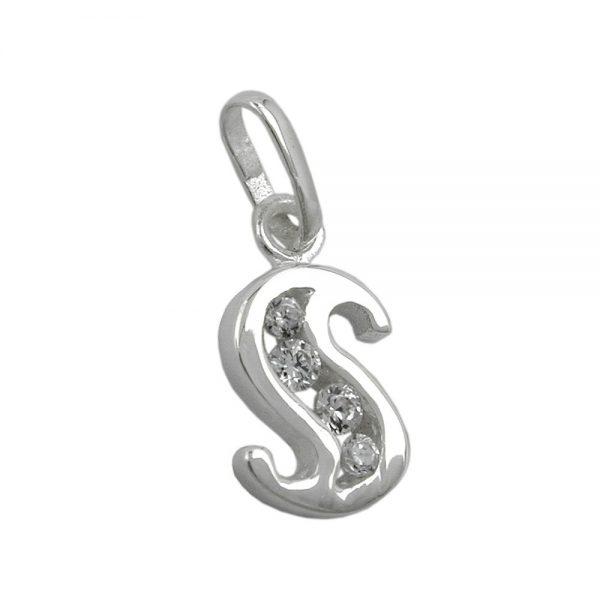 Pendentif initial s avec argent  925 Krossin bijoux en argent 91444sxx