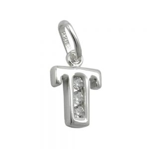 Pendentif initial t avec argent 925 Krossin bijoux en argent 91444txx